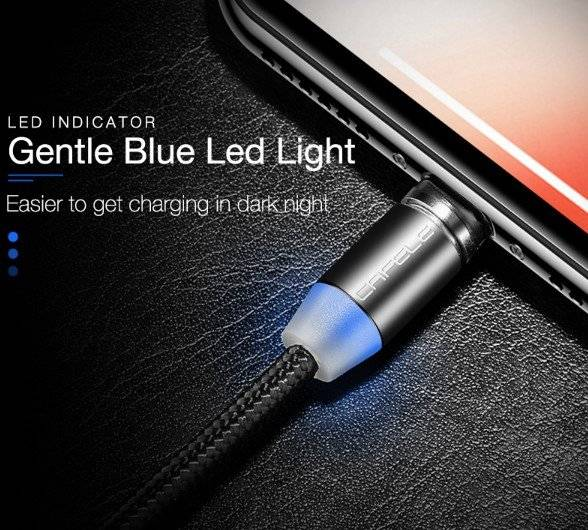 LED Magnetic Micro USB Cable Charger