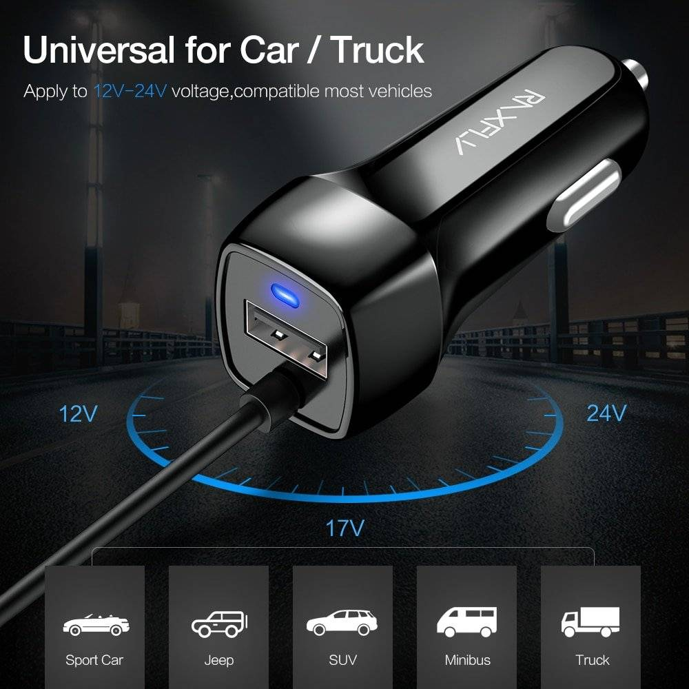 Quick USB Car Charger for Mobile Phone