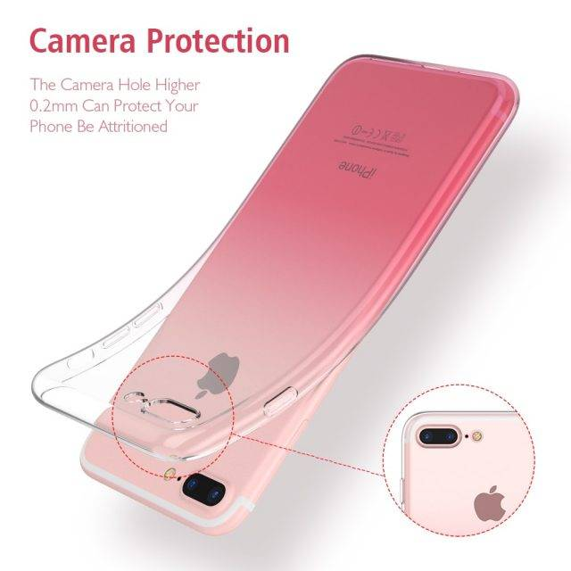 Transparent Gradient Design Phone Case for iPhone
