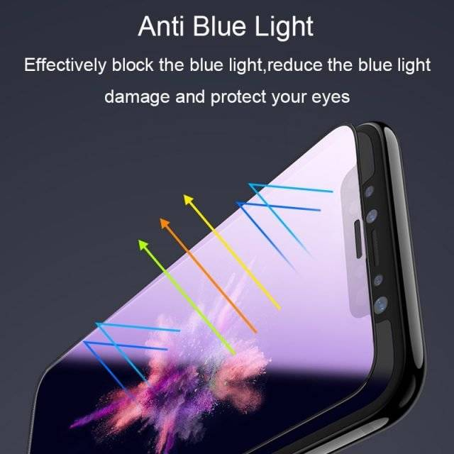 Ultra-Thin Anti Blue Light Full Tempered Glass for iPhone