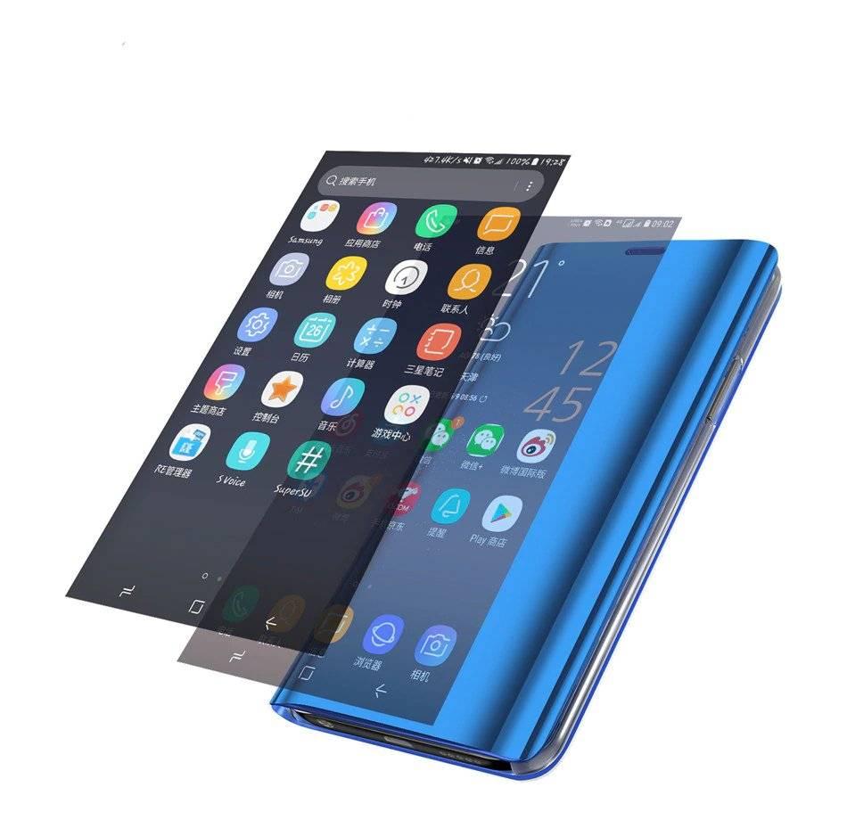 Reflective Smart Flip Case for Xiaomi Smartphones