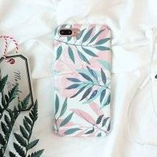 Cute Plants Leaves Printed Phone Cases for iPhone