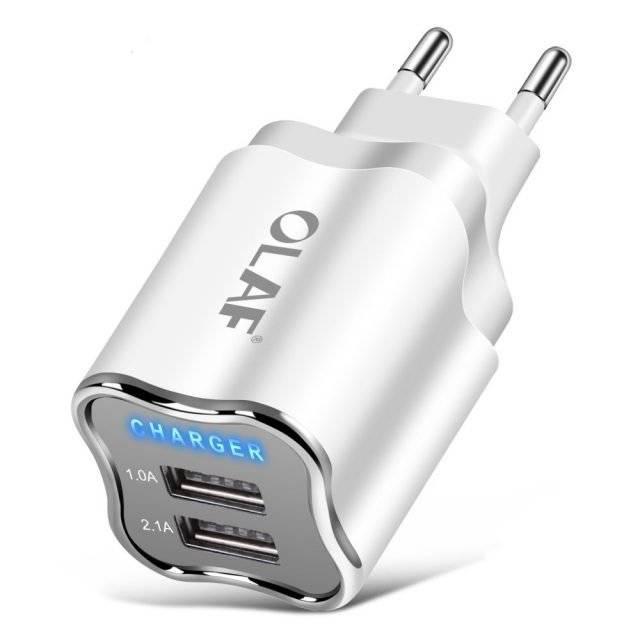 Dual Port EU/US Plug Wall USB Charger