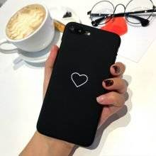 Apple iPhone Cases with Minimalist Heart Designs