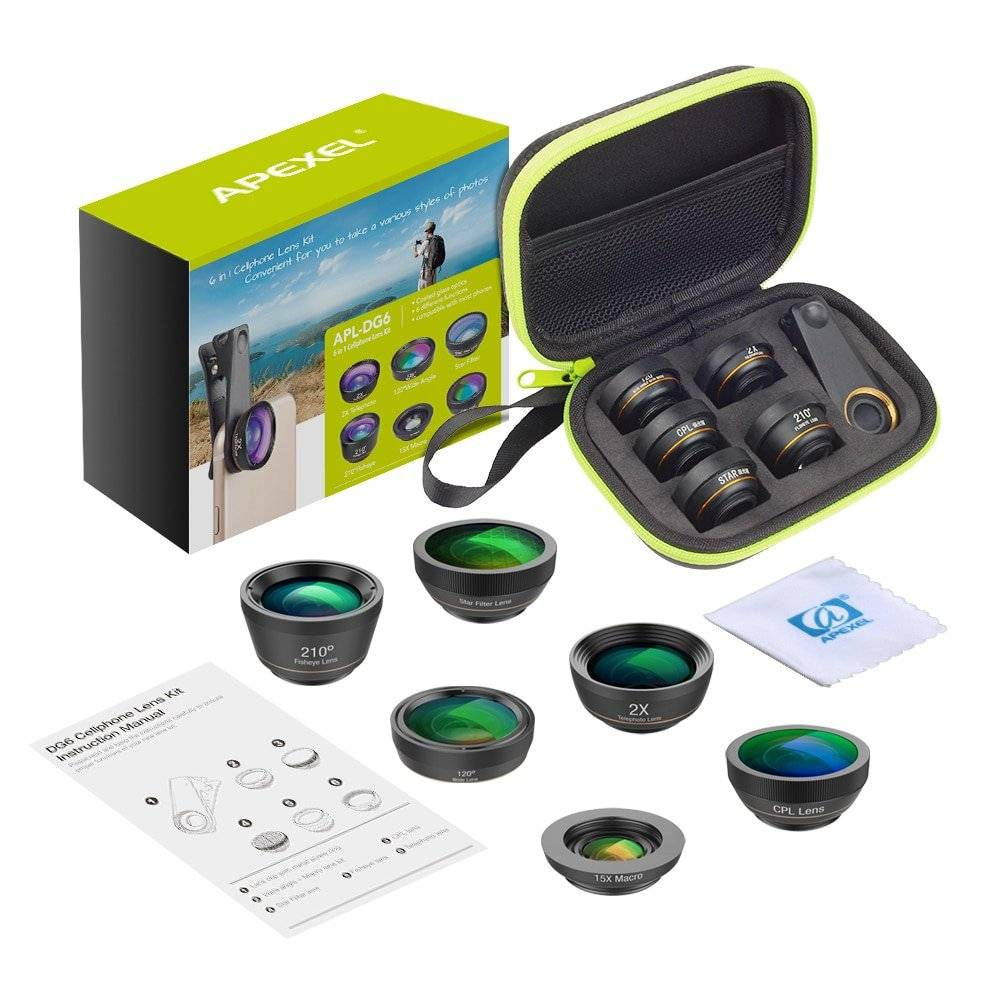 Universal Phone Lenses Kit with CPL and Star Filters