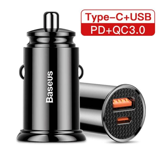 Small Car Charger with Two USB Ports