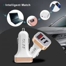 Digital Display Dual Port Car USB Charger