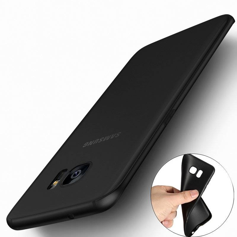 Ultra Thin Black Matte Soft Phone Cases for Samsung