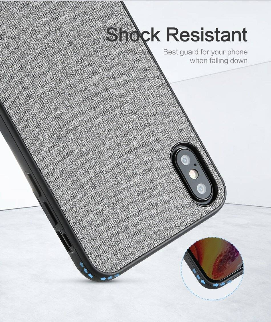 Cloth Texture Phone Case For iPhone