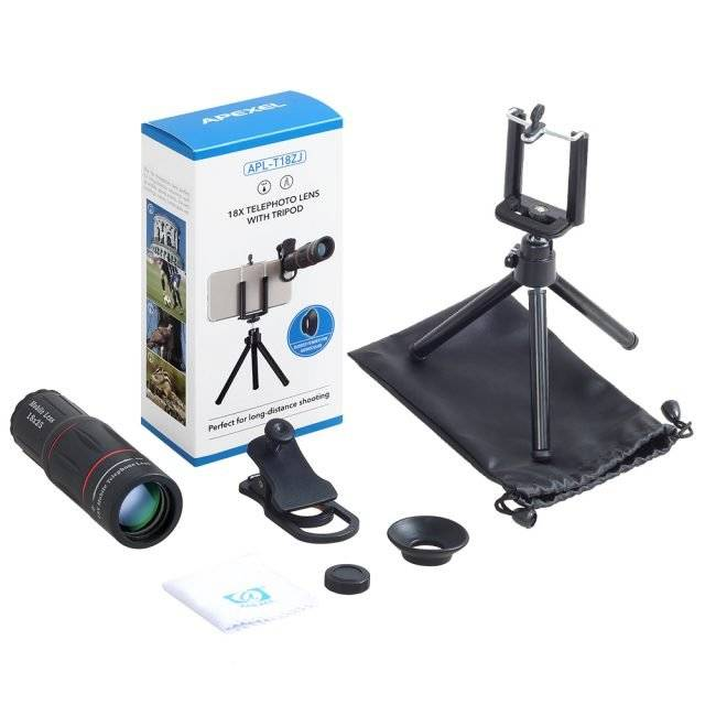 18X Universal Telescope Phone Lens with Tripod