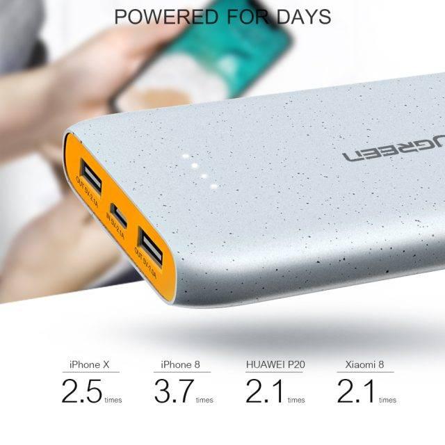 Compact Power Bank With Dual USB 10000 mAh