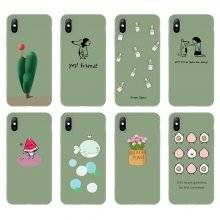 Green Cartoon Patterned Phone Case for iPhone