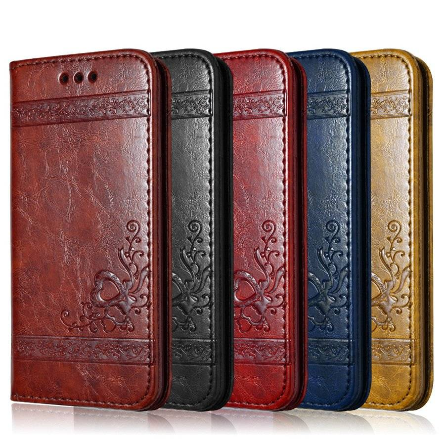 Leather iPhone Flip Case