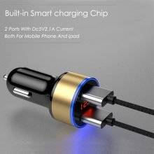 LED Display Phone Car Charger