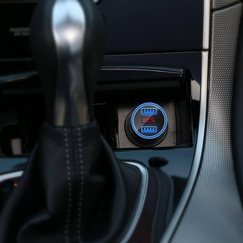 LED Display Phone Car Charger