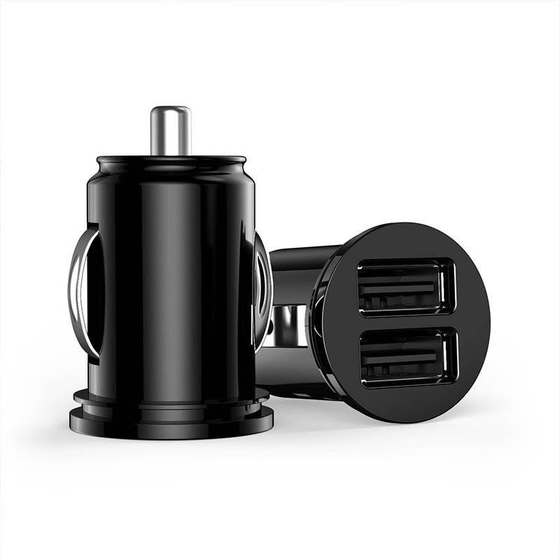 Universal Easy-to-Use Small Plastic Dual USB Car Charger