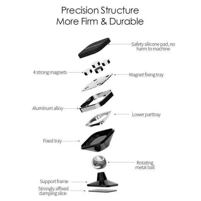 Portable Magnetic Rotating Car Phone Holder