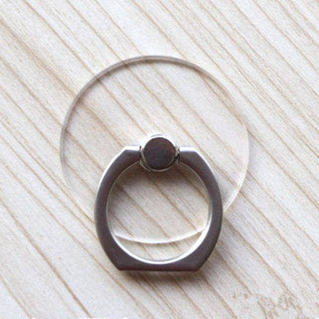 Transparent Rotating Phone Ring Holder