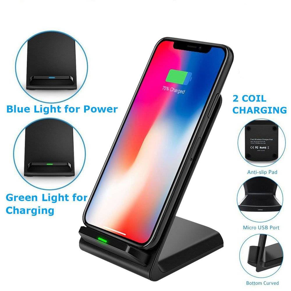 Universal Wireless Phone Charger and Holder