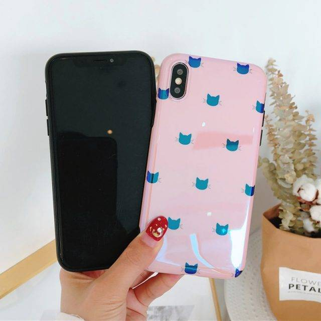 Cute Glittery Cats Case for iPhone