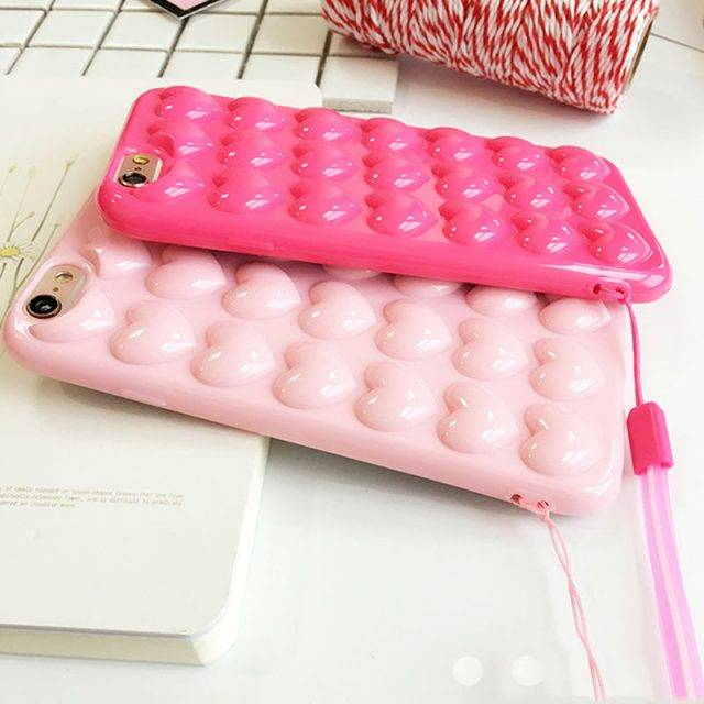 iPhone Cases with 3D Love Heart