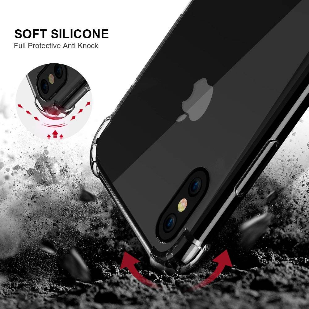 Transparent Shockproof Phone Case for iPhone