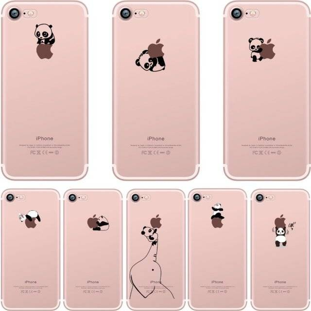 Cute Panda Soft Silicone Case for iPhone