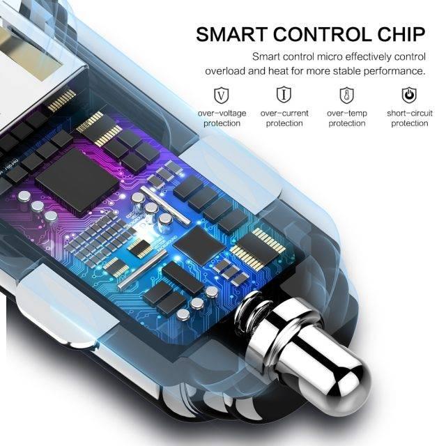 Compact Design Dual USB Car Charger