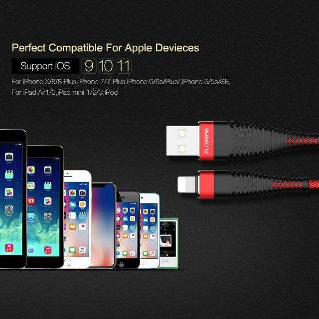 High-Tensile USB Charging Cable for iPhone