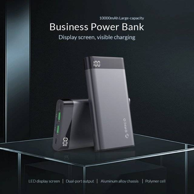 10000 mAh Dual USB Power Bank for Smartphone