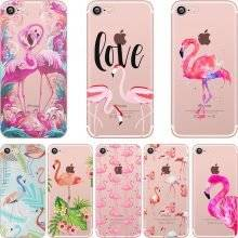 Cute Flamingo Patterned Protective Silicone Case for iPhone
