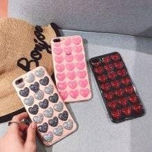 3D Cute Hearts Protective Soft Case for iPhone
