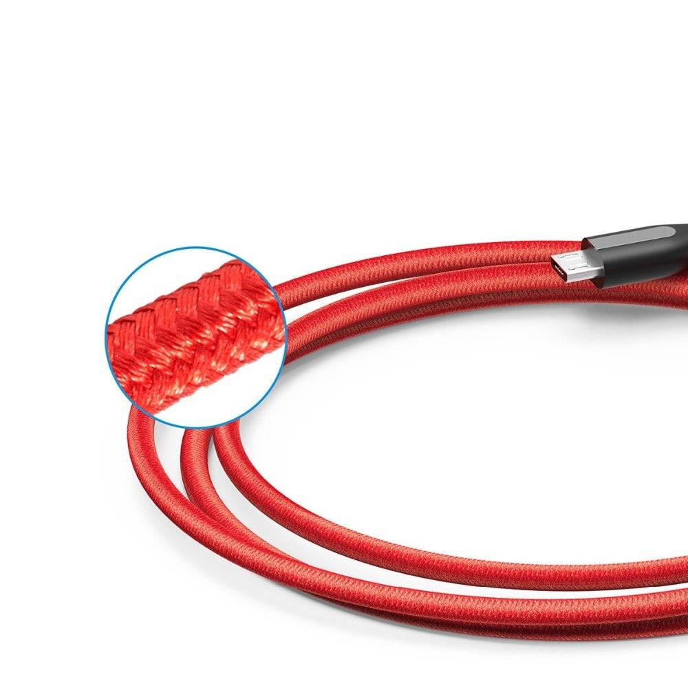 Colorful Anti-Tangle Braided Micro USB Cable