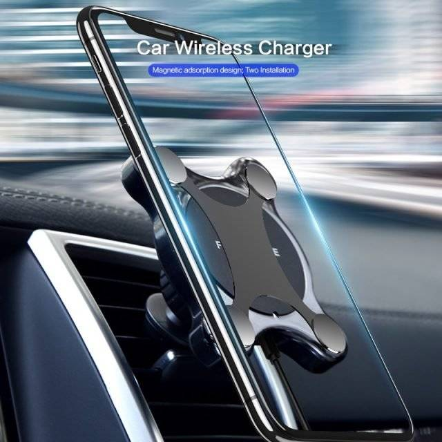 Car Mount Qi Wireless Charger for Smartphones