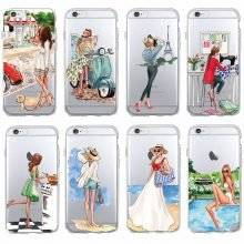 Casual Ladies Printed Case for iPhone