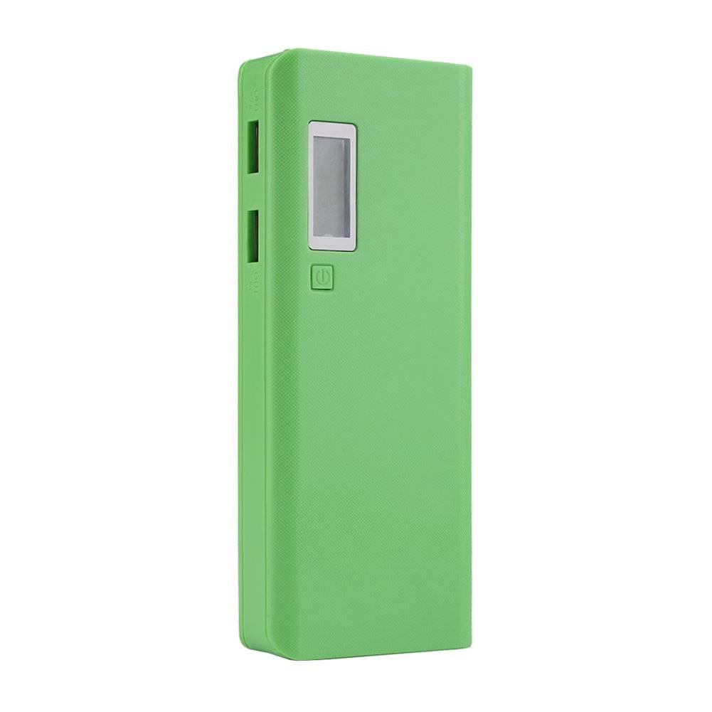Portable DIY Battery LCD Display Power Bank
