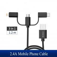 3 in 1 Type C/Micro/Lightning USB Cable