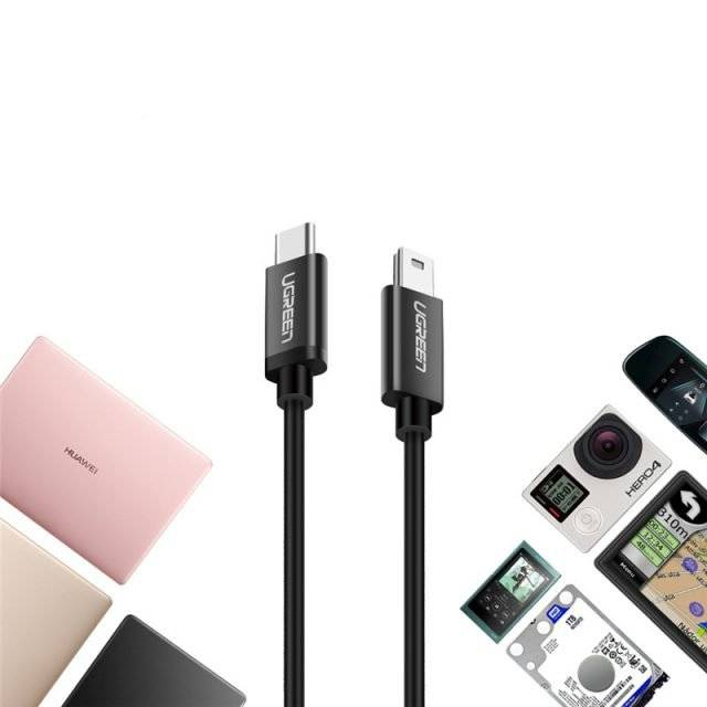 Type-C to Mini USB Cable