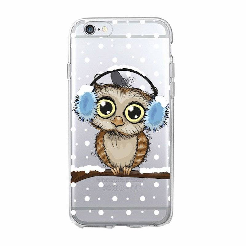 Cute Owl Soft Phone Case for iPhone, Samsung