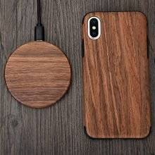7.5W Wooden Style Wireless Charging Pad for iPhone and Samsung