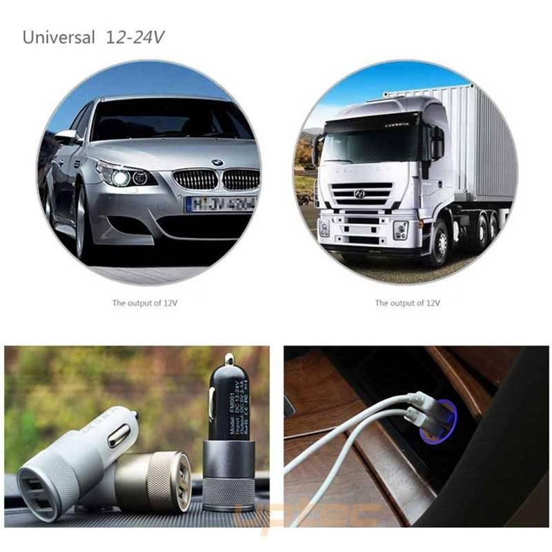 Universal Dual USB Car Phone Charger
