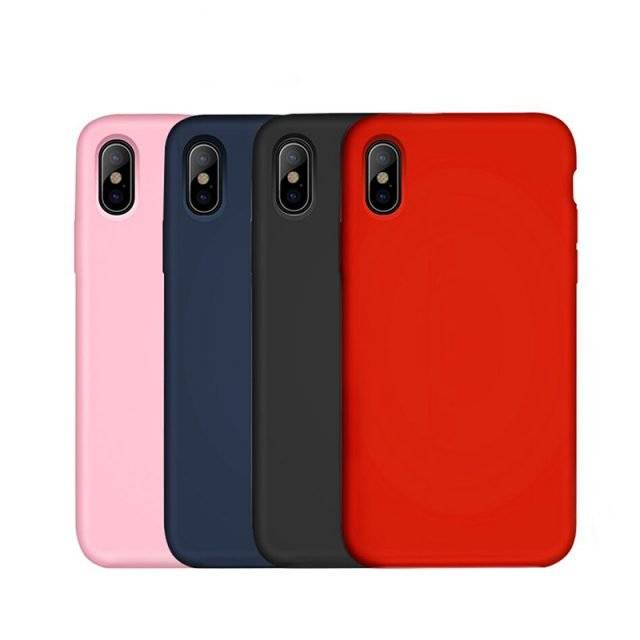 Matte Color Silicone Case for iPhone X