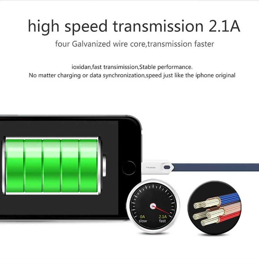 Fast Charging Lightning to USB Cable