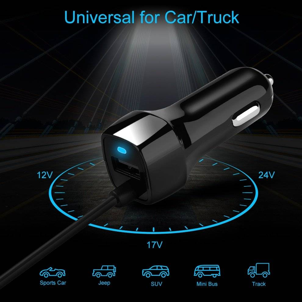Universal Super Fast Phone Car Charger