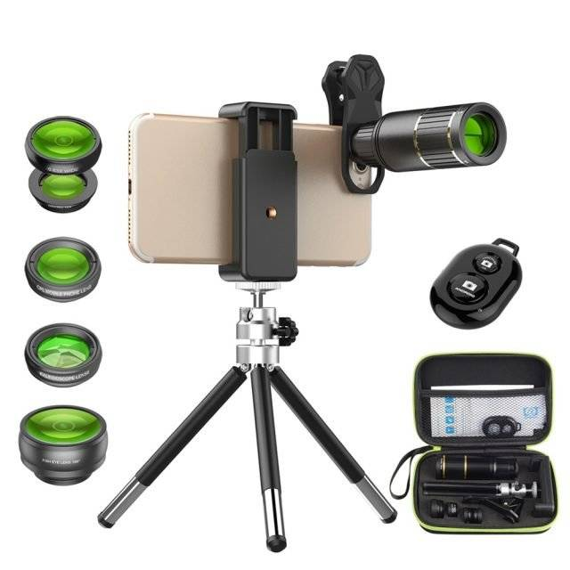 Universal Phone Camera Lenses Kit with Bluetooth Shutter