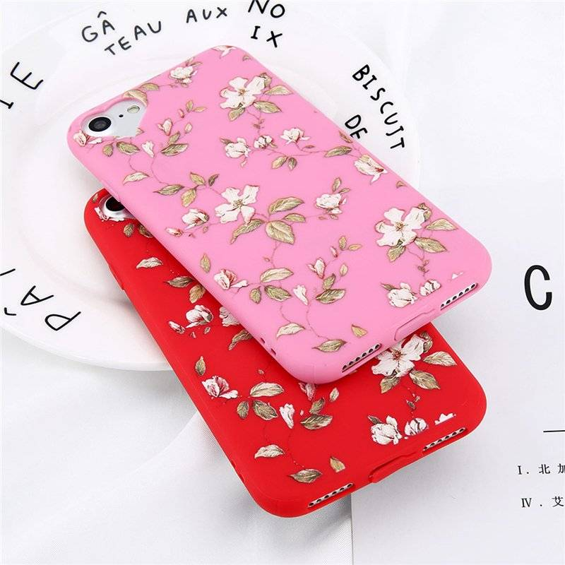Lovely Floral Patterned Protective Soft Case for iPhone