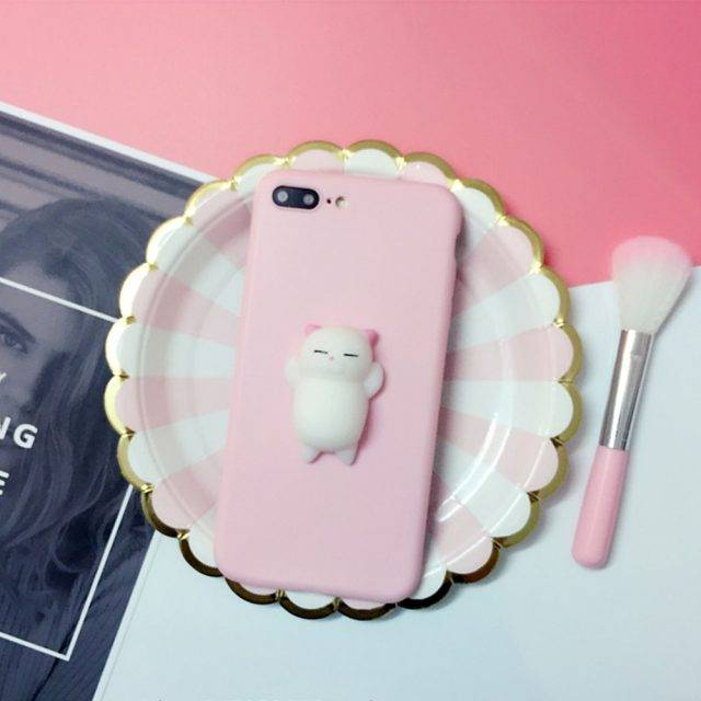 Cute Style Anti-Stress Squishy Silicone iPhone Case
