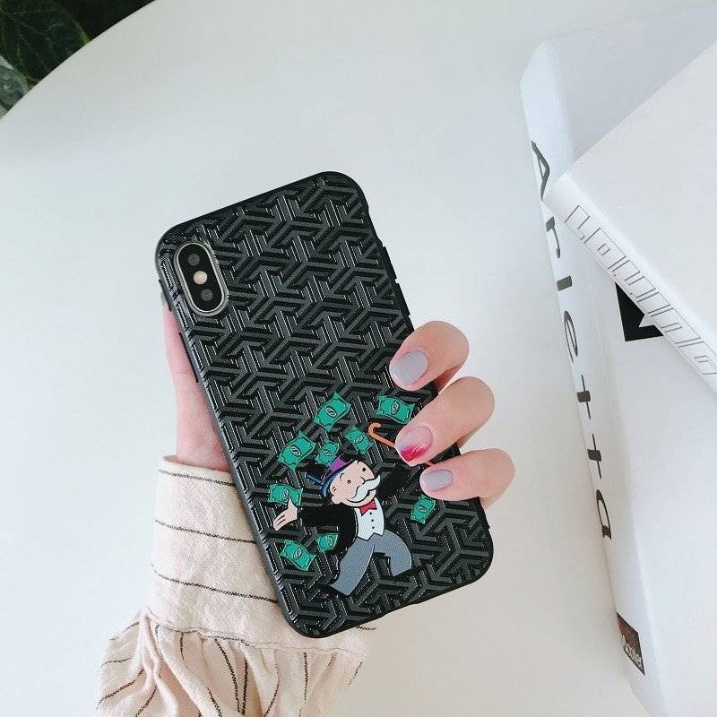 Monopoly Printed Soft Silicone Case for iPhone