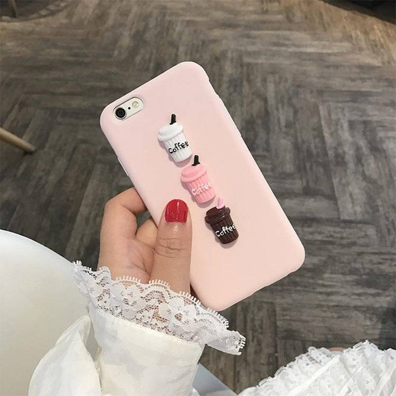 Cute Creatively Designed Protective Silicone Case for iPhone & Samsung