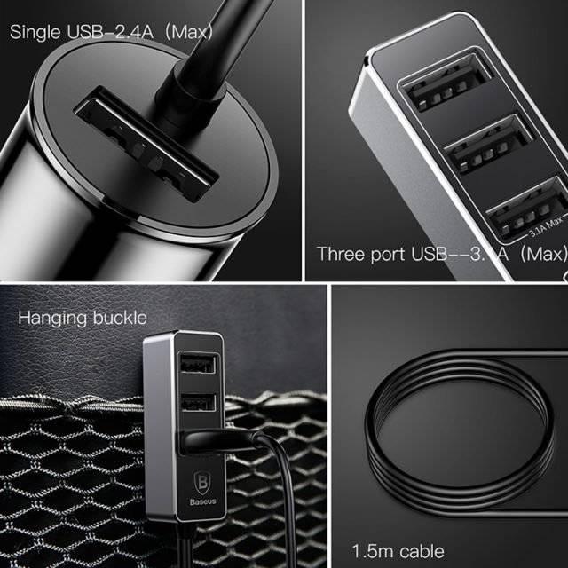 LED 4 Ports Phone Car Charger